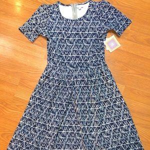 Lularoe Amelia Geometric Dress XS POCKETS!